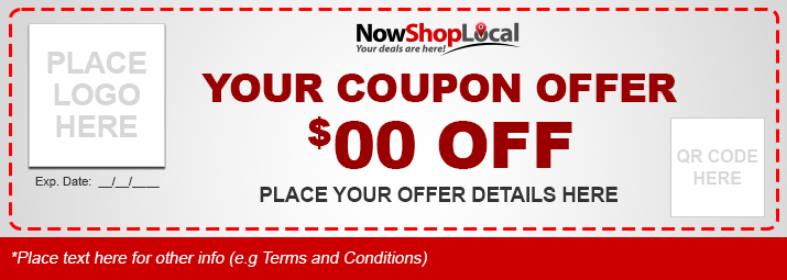 Mobile Social Coupon Ad Copy Form Now Shop Local – Example of a Coupon